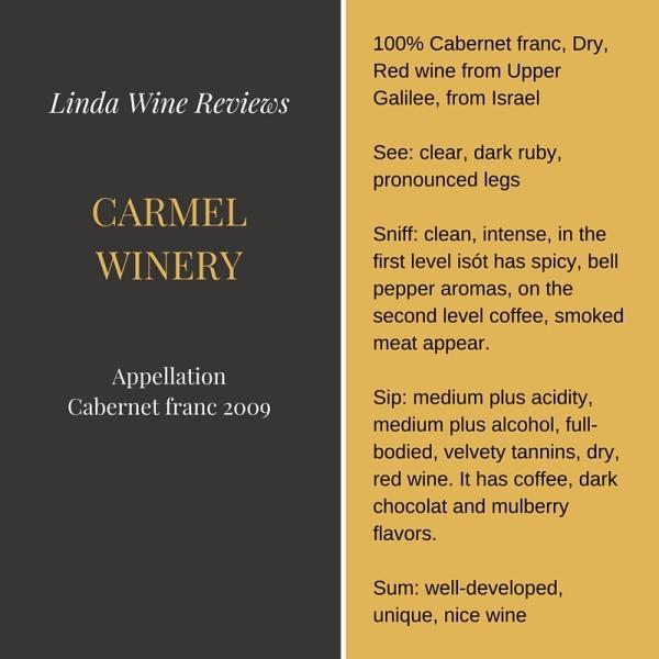 Carmel – Appellation Cabernet franc 2009