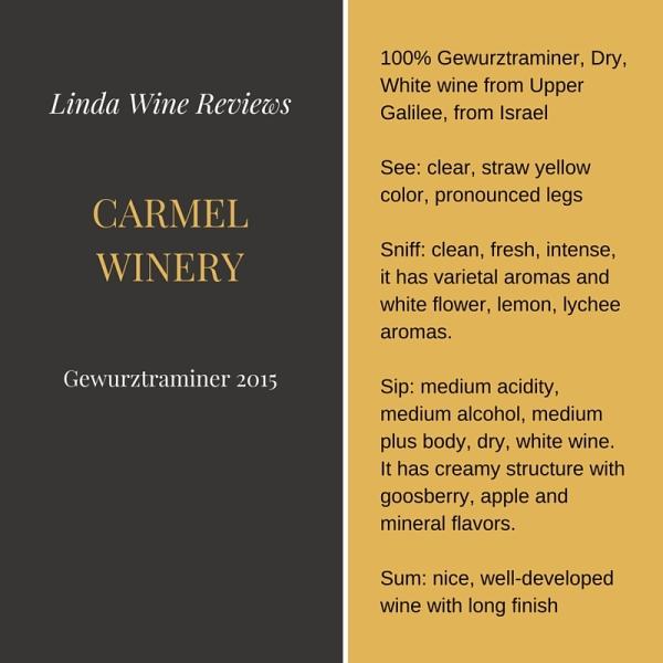 Carmel – Gewurztraminer 2015