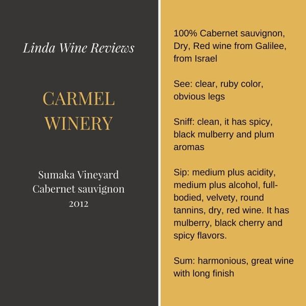Carmel – Sumaka Vineyard Cabernet sauvignon 2012