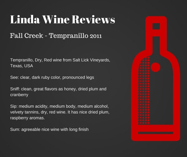 Fall Creek - Tempranillo 2011