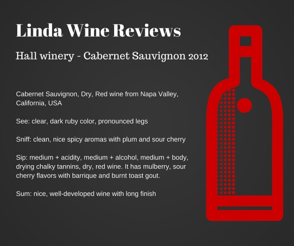Hall winery - Cabernet Sauvignon 2012