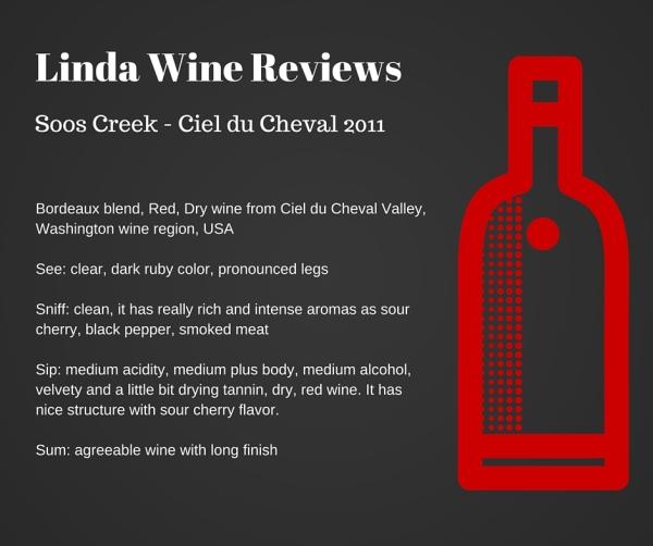Soos Creek - Ciel du Cheval 2011